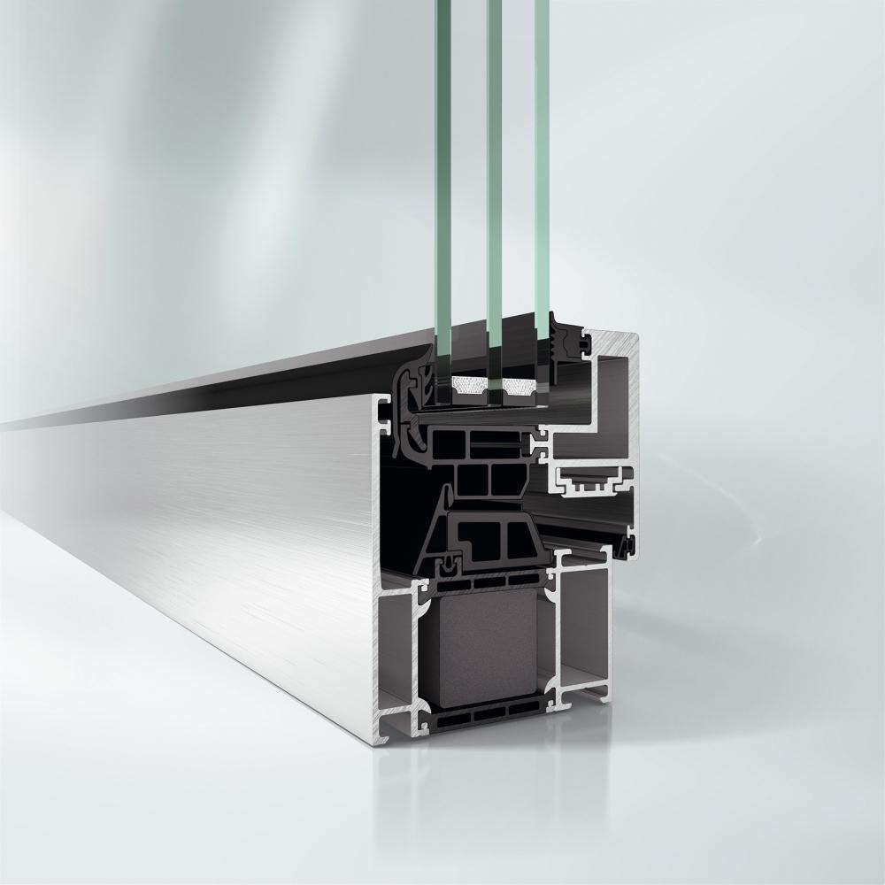 Block System pro maximální plochu skla a nerušený design